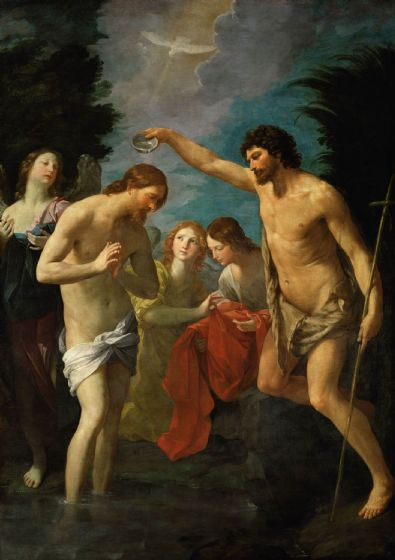 Reni, Guido: The Baptism of Christ. Fine Art Print/Poster (4884)